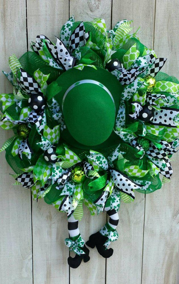 15 Stunning Handmade St Patricks Day Wreath Designs