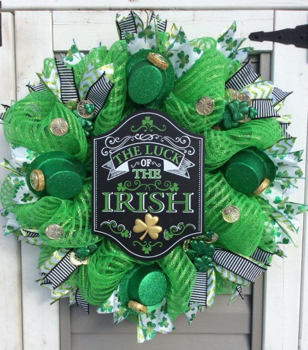 15 Stunning Handmade St. Patricks Day Wreath Designs