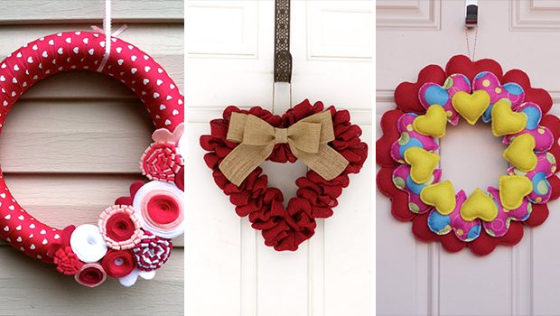 15 Sweet Handmade Valentine's Day Wreath Designs For Your Last Minute Gift