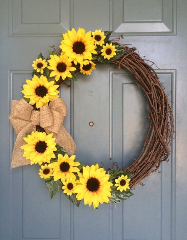 spring front door wreathsEnchanting Handmade Spring Wreath Designs To Refresh Your Front Door