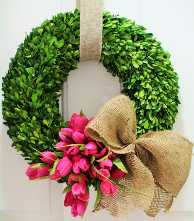 spring wreath for front doorEnchanting Handmade Spring Wreath Designs To Refresh Your Front Door