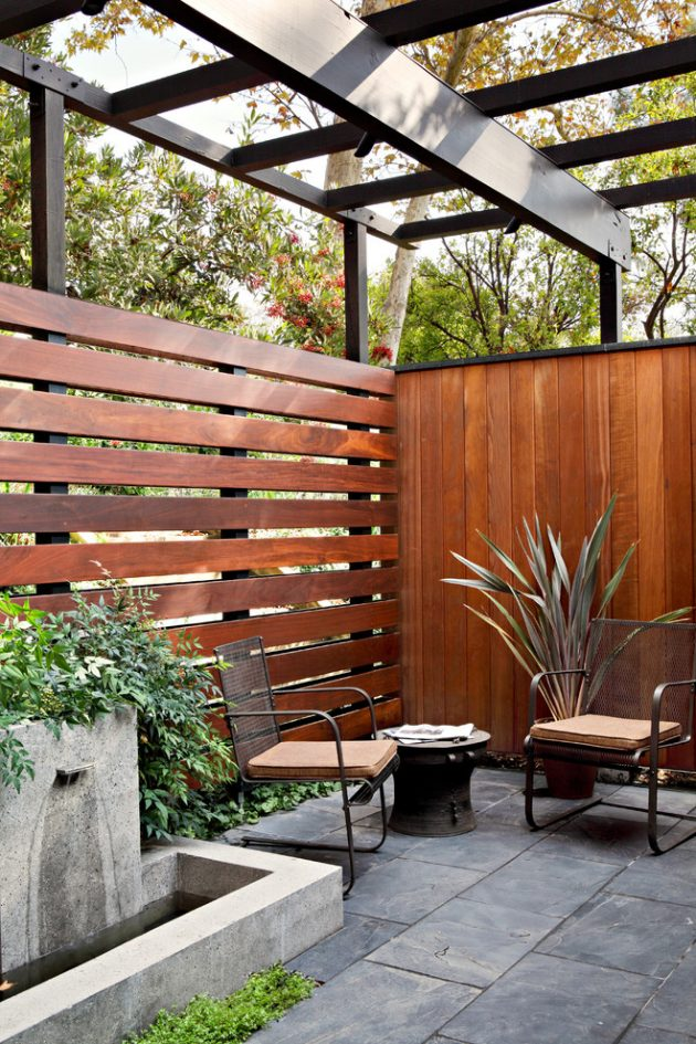 16 extraordinary mid century modern patio designs you 39 ll for Wooden garden screen designs