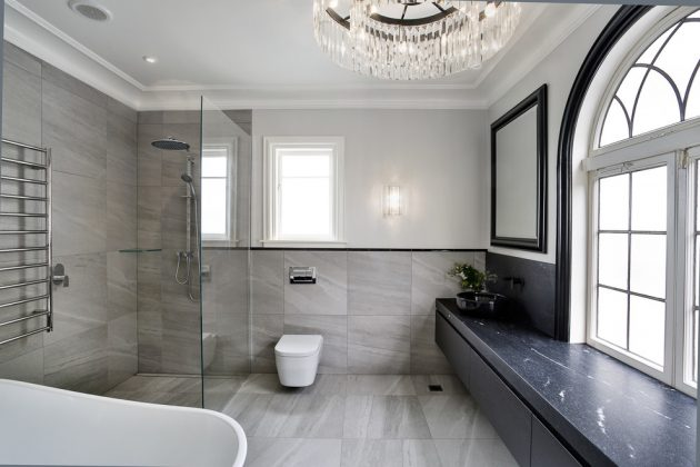 17 astonishing transitional bathroom interior designs you need to see. Black Bedroom Furniture Sets. Home Design Ideas