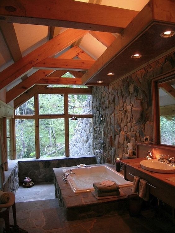20 Truly Amazing Stone Bathrooms To Enter Rustic Charm In