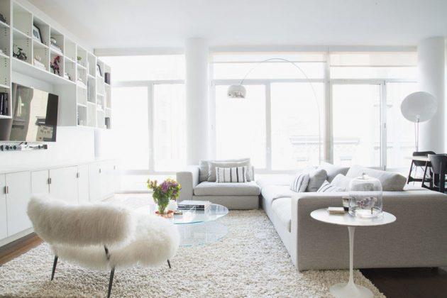 16 Magnificent Ideas For Decorating Pleasant & Classy White Interiors