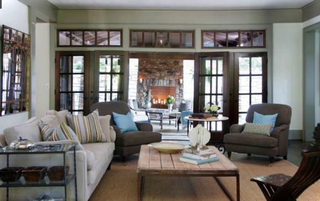 17 Brilliant Living Rooms With French Doors That Will ...