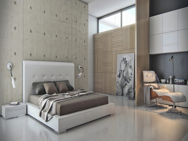 19 Marvelous Bedrooms With Concrete Wall That Are Worth Seeing