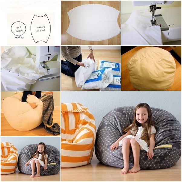17 Fascinating DIY Bean Bag Designs To Surprise Your Children