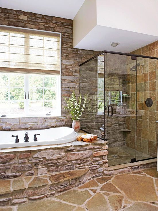 Truly Amazing Stone Bathrooms To Enter Rustic Charm In The Home