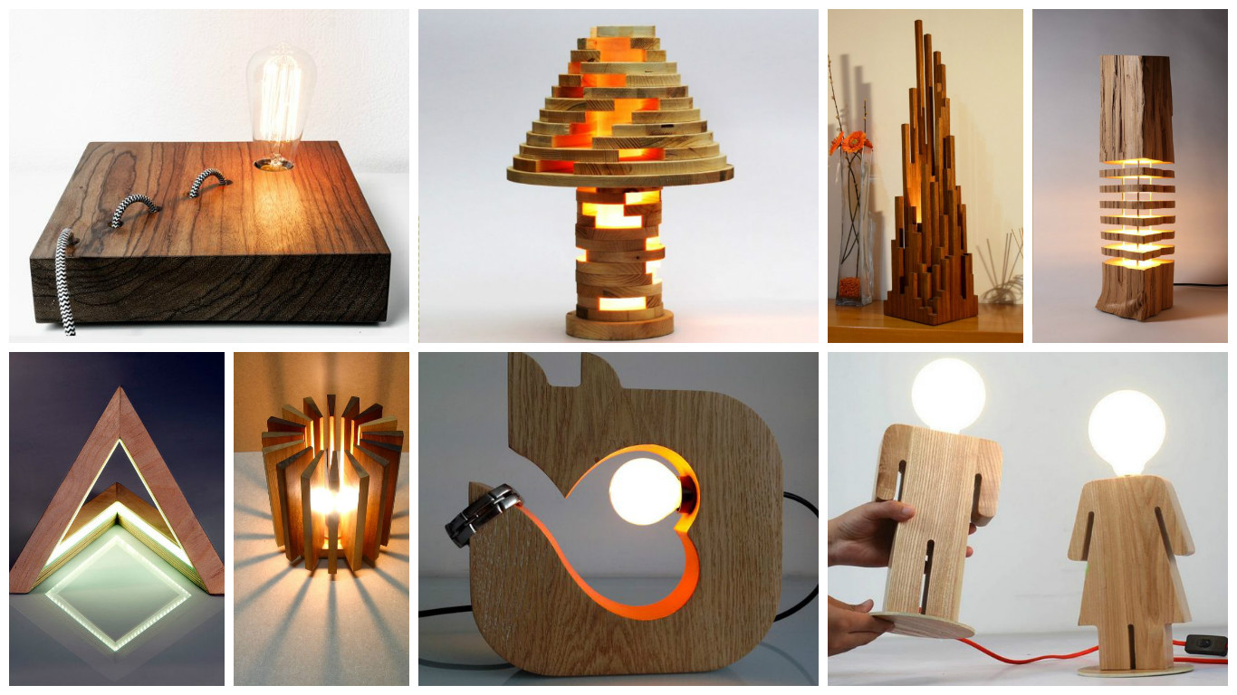 Tempting wooden lamp designs that are worth seeing