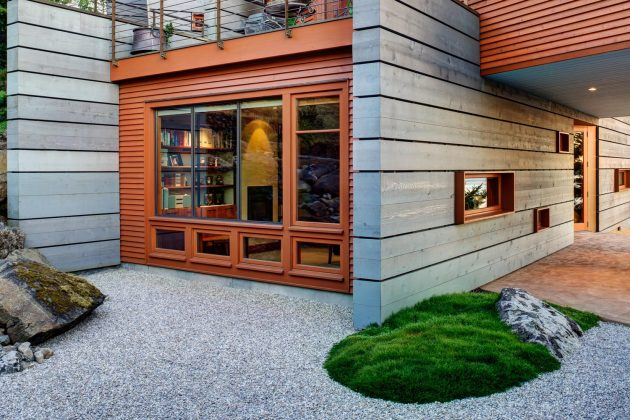 San Juan Cliffside by Prentiss + Balance + Wickline Architects in WA, USA