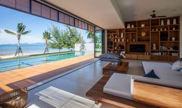 Villa Malouna by Sicart & Smith Architects on the Koh Samui Island in Thailand