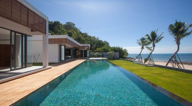 Villa Malouna by Sicart & Smith Architects on the Koh Samui Island in Thailand