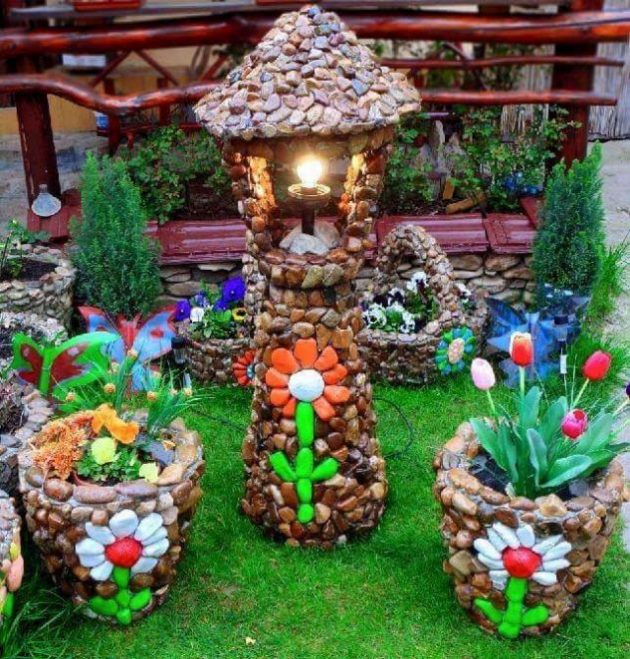 19 Handmade Cheap Garden Decor Ideas To Upgrade Garden: 19 Impressive Stone Garden Decorations That Everyone Can Make