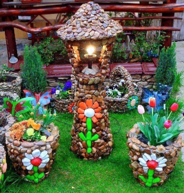 Как сделать садовые украшения своими руками 4