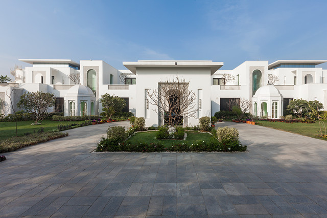 10 mesmerizing indian home exterior designs that you must see for Indian house exterior design