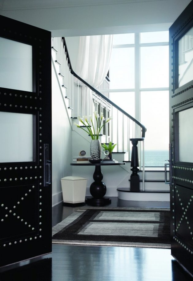 15 Beautiful Modern Foyer Designs That Will Welcome You Home: 15 Embracing Transitional Foyer Designs That You'll Adore
