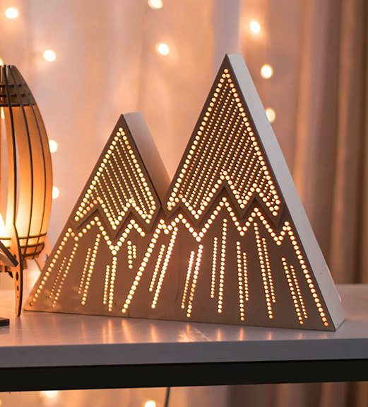 15 Enchanting Night Light Designs Made With Laser Cut Wood