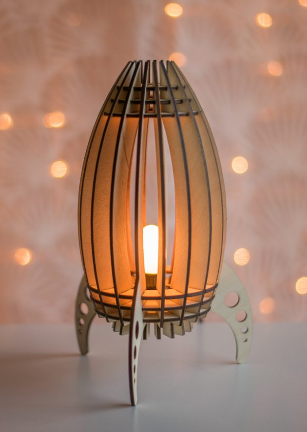 15 enchanting night light designs made with laser cut wood for Night light design