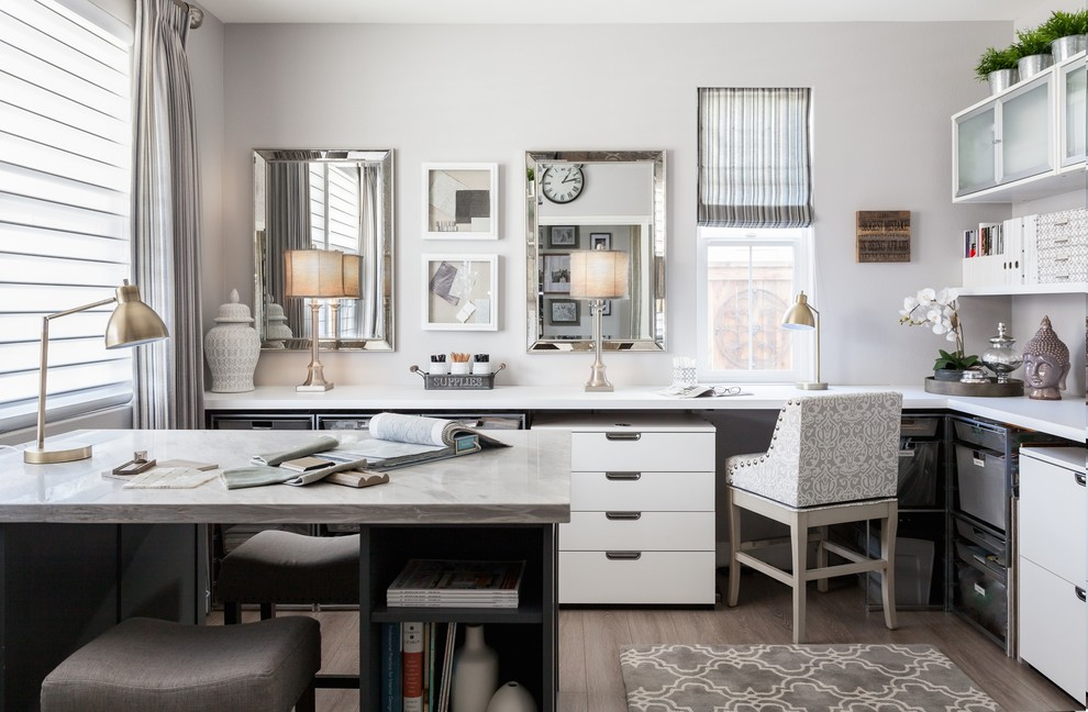 15 Inspiring Design Ideas: 15 Inspirational Transitional Home Office Designs For