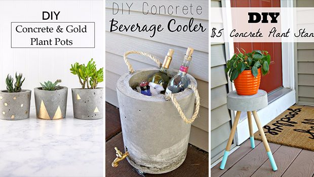 15 Outstanding Concrete Crafts That You Can DIY Anytime You Want