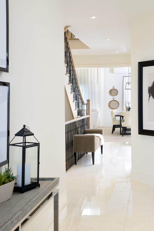 15 Stylish And Practical Transitional Hallway Designs