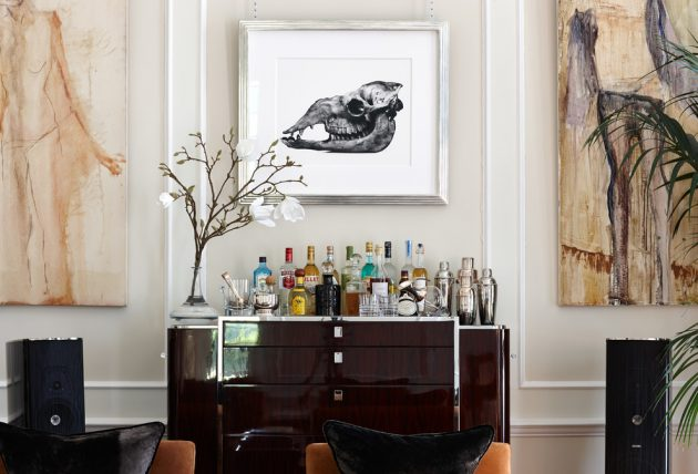 16 Elegant Transitional Home Bar Designs To Entertain Your
