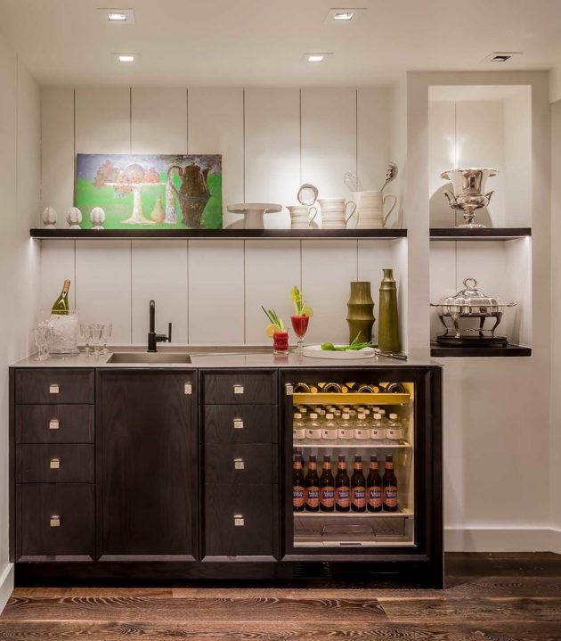 Lake Home Bar Design Ideas: 16 Elegant Transitional Home Bar Designs To Entertain Your