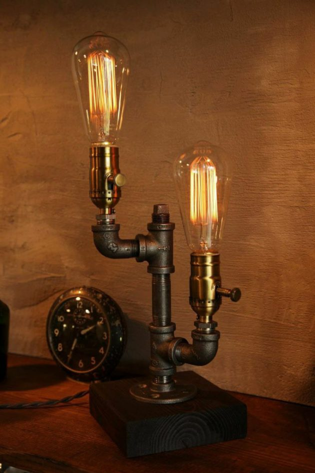 17 Amazingly Creative Handmade Pipe Lamp Designs You'll Want To Have Immediately