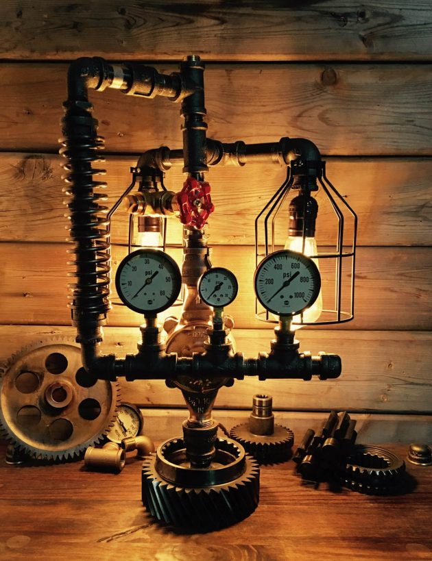 17 Amazingly Creative Handmade Pipe Lamp Designs You Ll