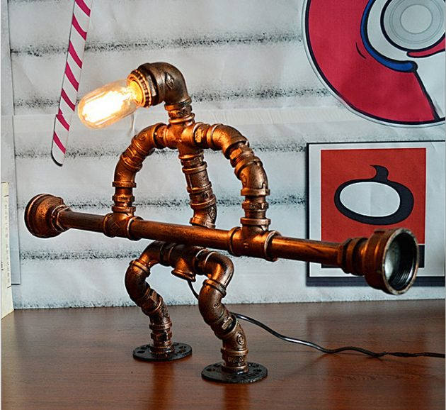 17 Amazingly Creative Handmade Pipe Lamp Designs You Ll