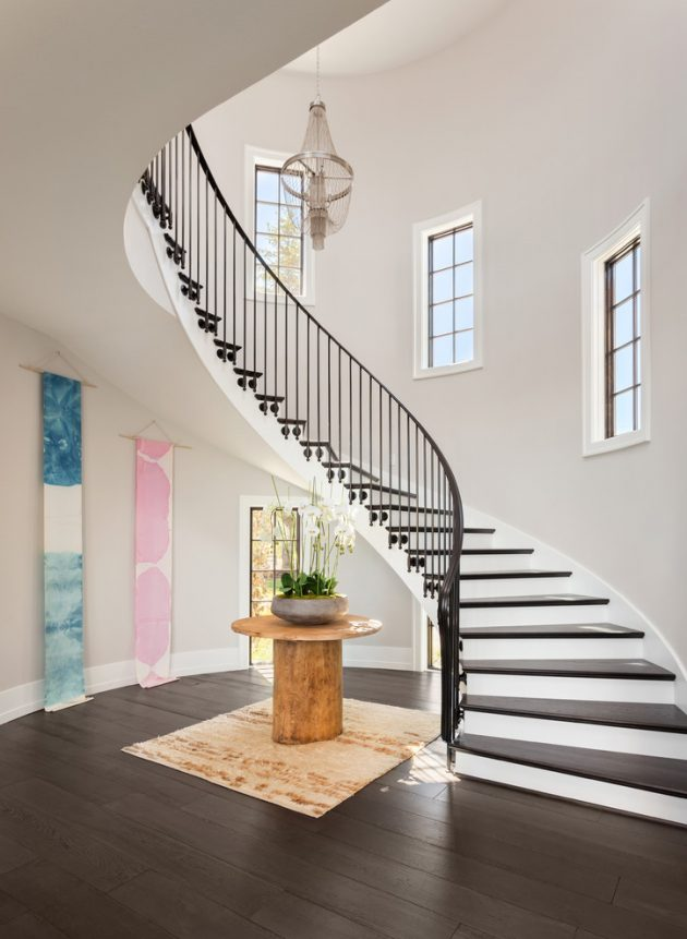Graceful Transitional Staircase Designs