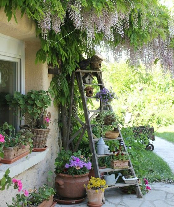15 Creative Garden Ideas You Can Steal: 14 Marvelous Ideas For Using Old Ladder In Your Garden