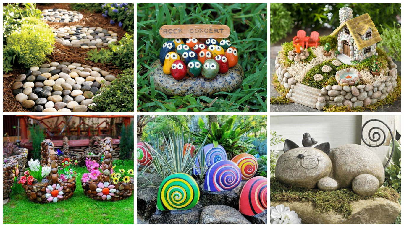 19 impressive stone garden decorations that everyone can make for Garden decoration ideas pictures