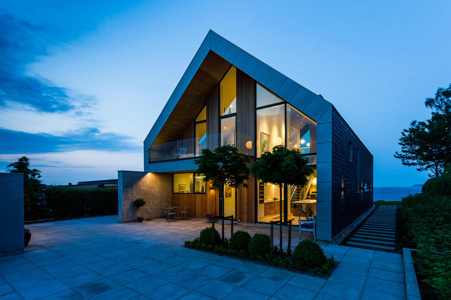 Villa p by n p architecture in denmark for Villa architect