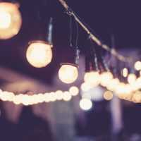 Lights decoration Event Festival outdoor Party Vintage tone