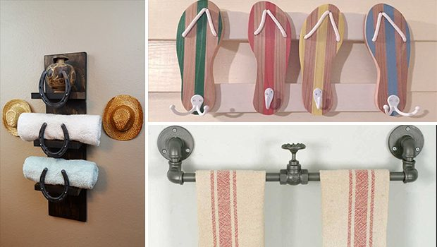 15 Amazing Handmade Rustic Towel Rack Designs For Your Bathroom