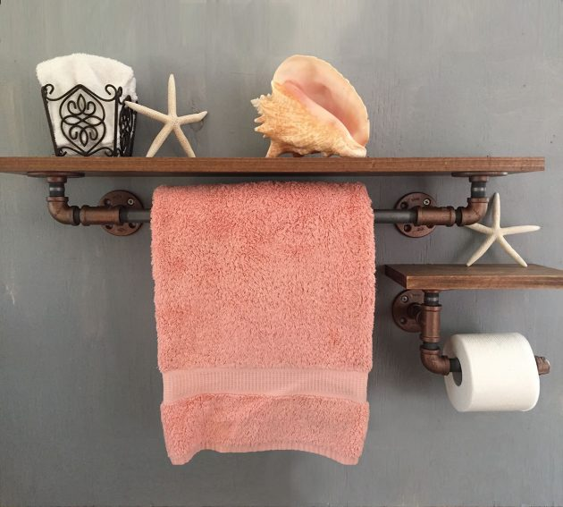 Charming Wooden Bathroom Towel Rack . Worldivided.com