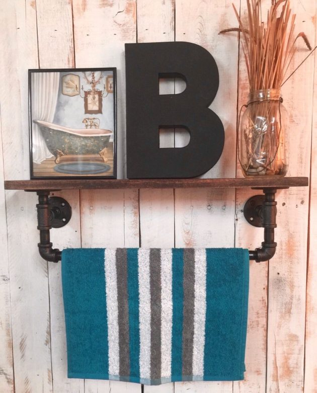 15 Amazing Handmade Rustic Towel Rack Designs For Your Bathroom