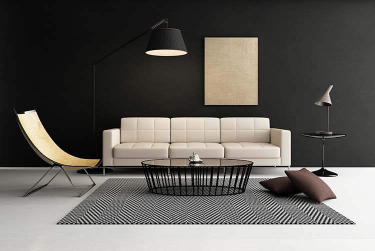 black living room walls 17 bold interiors with black wall for those who think 14689