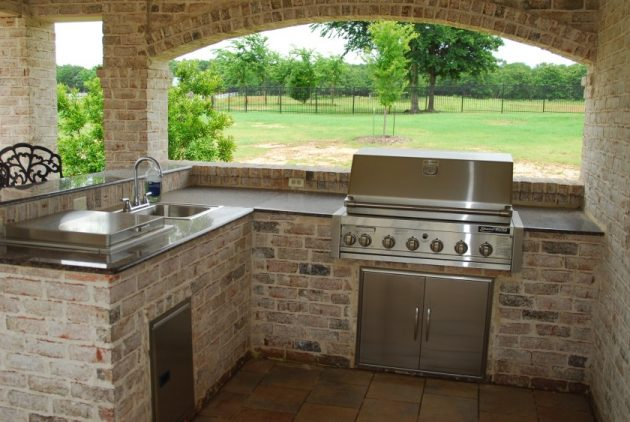 Enjoy Cooking Outside In A New Outdoor Stone Kitchen