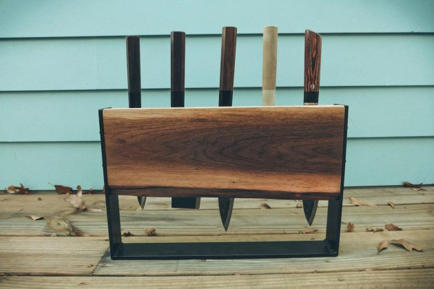 16 Cool Handmade Knife Rack Designs To Update Your Kitchen With
