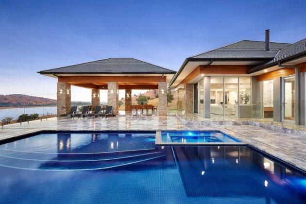 16 Extravagant Transitional Swimming Pool Designs You Won