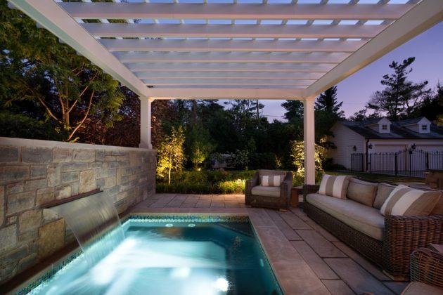 Simple Pool Landscaping Backyard