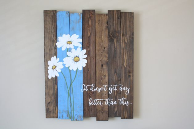 16 Inspirational Handmade Pallet Wood Wall Decor Ideas To