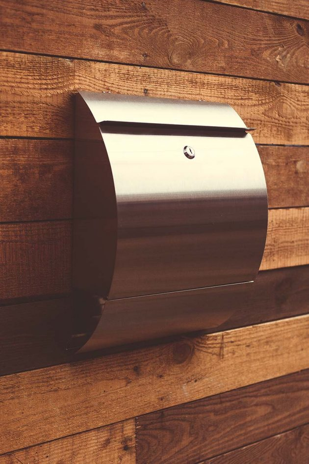 Well-known 16 Sleek Handmade Modern Mailbox Designs To Complement Your Exterior TC32
