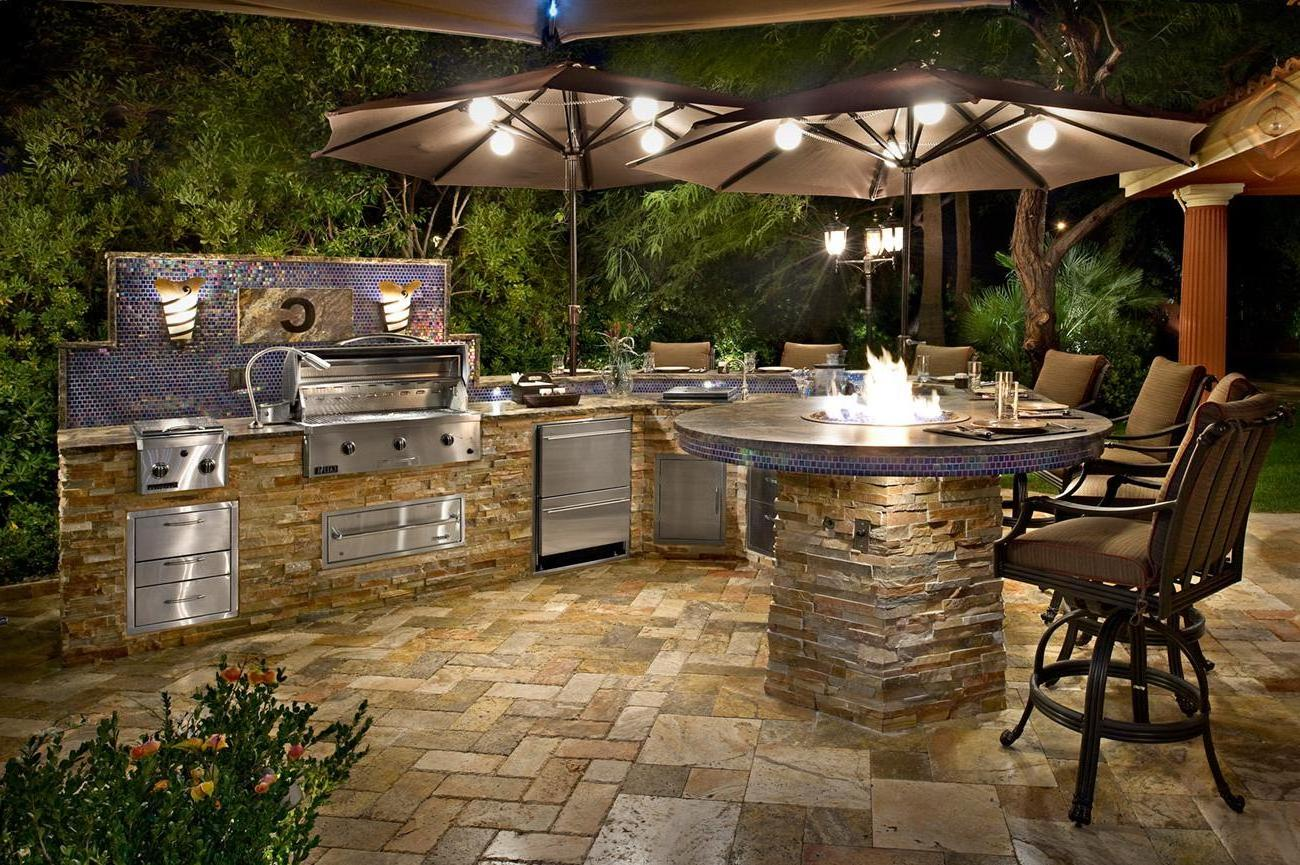 Enjoy Cooking Outside In A New Outdoor Stone Kitchen on Patio Kitchen id=77741