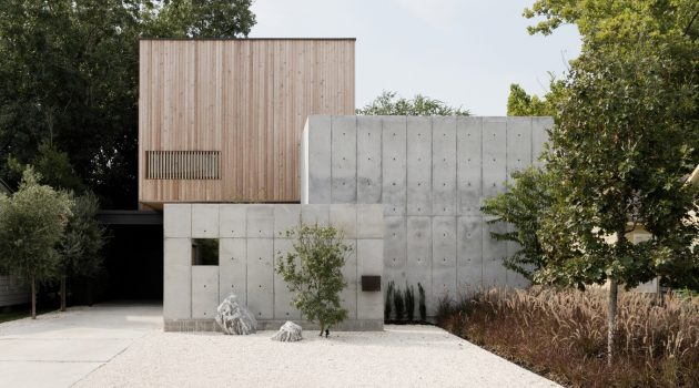 Concrete Box House by Robertson Design in Houston, Texas
