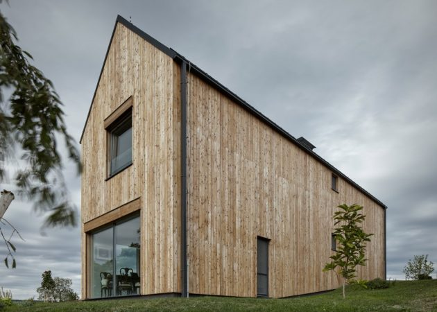 House for Marketka by Mjölk Architekti in Točník, Czech Republic