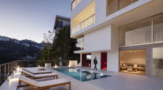 1853 Sunset Plaza Dr. Residence; Architect: Dominic Gasparoly, Khalid Watson; Interior Designer: Dominic Gasparoly, Khalid Watson; Developer: Harry Dheedene; Location: West Hollywood, LA